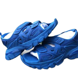 Blue mens slides shoes